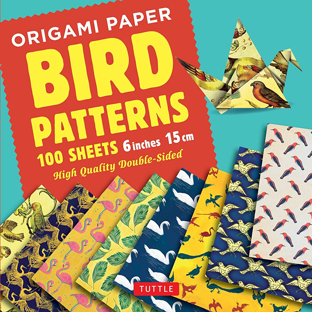 Origami Paper 100 sheets Bird Patterns 6