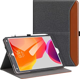 Ztotop for iPad 10.2 Case 2019, Premium PU Leather Slim Folding Stand Cover with Auto Wake/Sleep, Multiple Viewing Angles for iPad 10.2 inch 2019 7th Generation, Denim Black