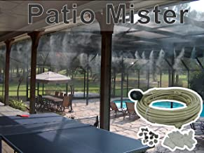 Patio Misting System - For Backyard, Patio, Gazebos, Pool and Play ares - With Brass/Stainless Steel Nozzles - Do it Yourself Misting System - Easy to Expand