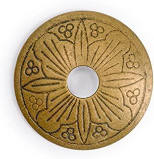 CBH Floral Brass Hardware Backplate Washers 1-3/8