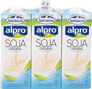 Alpro Central Lechera Asturiana Bebida de Soja Original - Paquete de 6 x 1000 ml - Total: 6000 ml