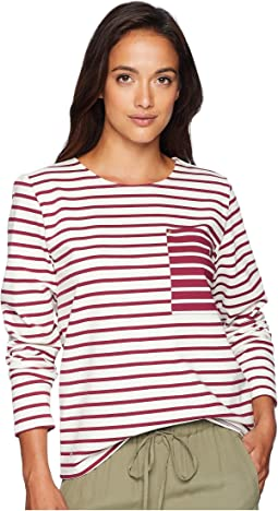 Striped Cotton Pocket T-Shirt