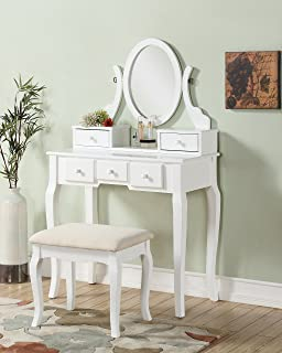 Amazon.com: Makeup - Vanities & Vanity Benches / Bedroom Furniture ...