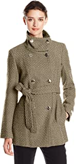 Women's Double Breasted Wool Coat with Belt