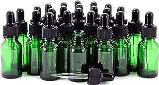 Vivaplex, 24, Green, 15 ml (1/2 oz) Glass Bottles, with Glass Eye Droppers