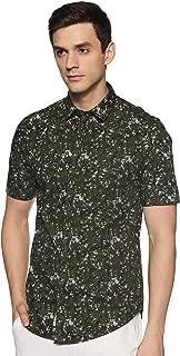 Peter England Men's Printed Slim fit Casual Shirt