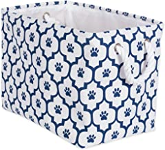 "DII Bone Dry Medium Rectangle Pet Toy and Accessory Storage Bin, 16x10x12"", Collapsible Organizer Storage Basket for Home ..."