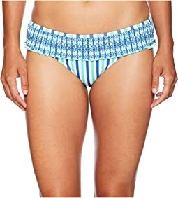 Hope Bay Stripe Smocked Bikini Bottom