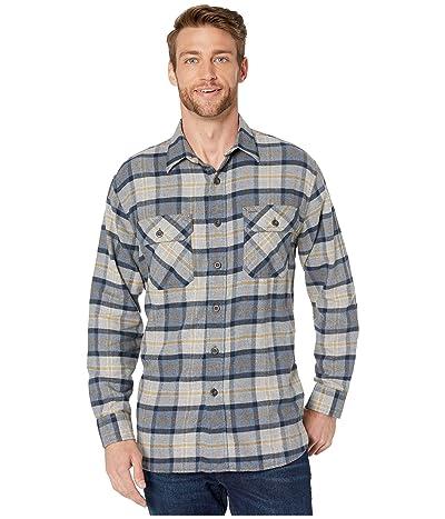 Pendleton Burnside Double-Brushed Flannel Shirt (Grey/Navy/Gold Plaid) Men