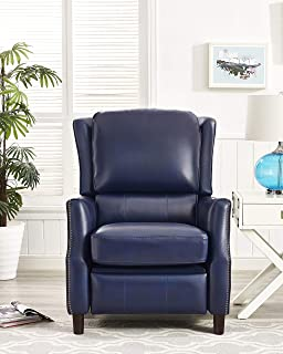 lane andre leather recliner and ottoman