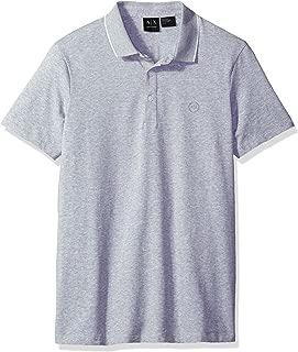A X Armani Exchange Polos For Men, L, Grey (8NZF70ZJM9Z)