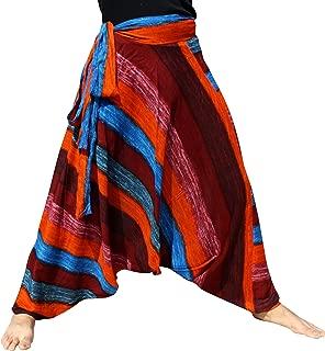 Raan Pah Muang 混合艺术宽松侧带 Mao Hmong Hill 部落哈伦裤