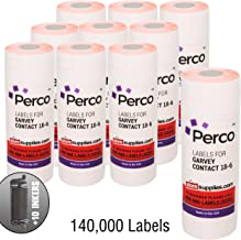 1812 Fluorescent Red Pricing Labels for Garvey 18-6 One Line Price Gun – 140,000 Price Marking Labels – with Bonus Ink Rolls