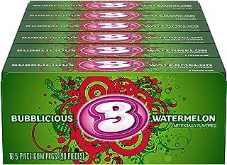 Bubblicious Watermelon Gum, 18 Packs of 5 Pieces (90 Total Pieces)