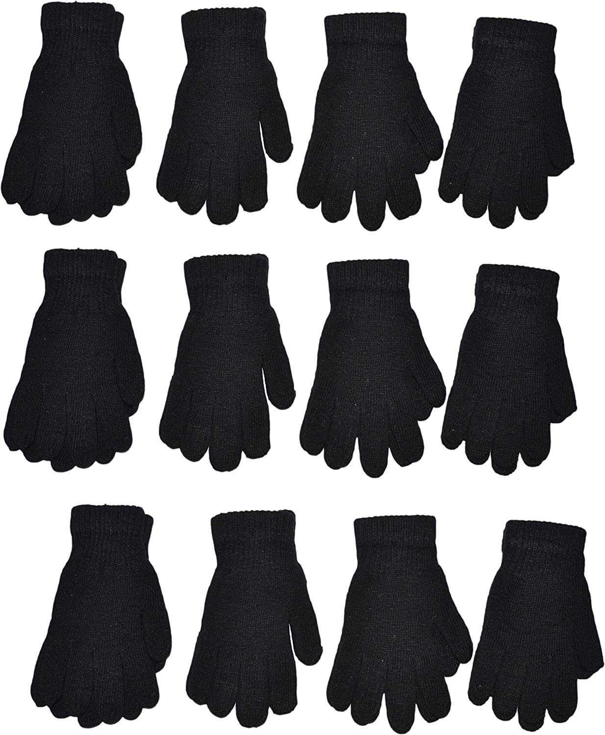 OPT Brand. Chenille Knit Gloves Magic Soft Winter Gloves Unisex 12 Pairs Wholesale