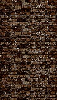 Ella Bella Photography Backdrop Paper, Aged Brown Brick, 48