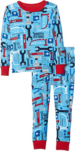 Hatley Kids - Lots of Tools PJ Set (Toddler/Little Kids/Big Kids)