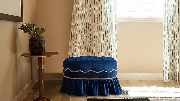 Jennifer Taylor Home 2351 859 Toby Ottoman Navy Blue