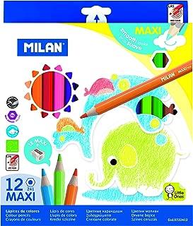 MILAN 0722412 MILAN KIDS MAXI GRIP COLOR PENCIL 12PC SHARPENER