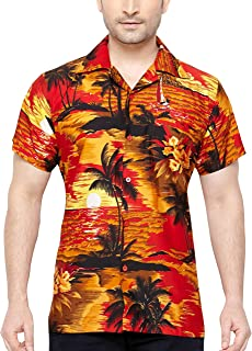 comprar comparacion CLUB CUBANA Camisa Hawaiana Florar Casual Manga Corta Ajuste Regular para Hombre