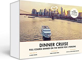 Romantic Dinner Cruise for Two in New York, San Fransisco or Los Angeles Experience Gift Card NYC - GO DREAM - Sent in a Gift Package