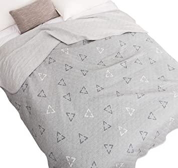 J-pinno Palace Classic Bed Blanket Jersey Knitted Cotton Cozy Quilt Reversible Throw Blanket Bedspread Bedding Coverlet for Kids Teen Boys Bed Gift 18, F//Q 78 X 90