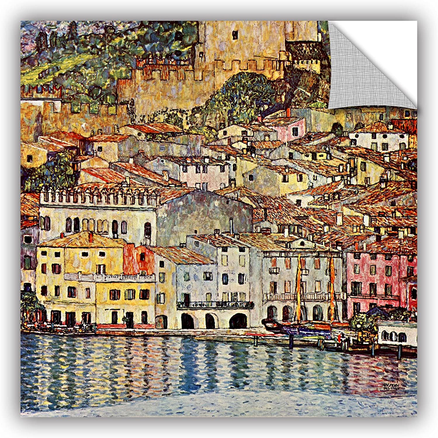 Art Wall 0kli038a1818p Gustav Klimt's Malcesina at Gardasee Appeelz Removable Graphic Wall Art, 18x18Inch