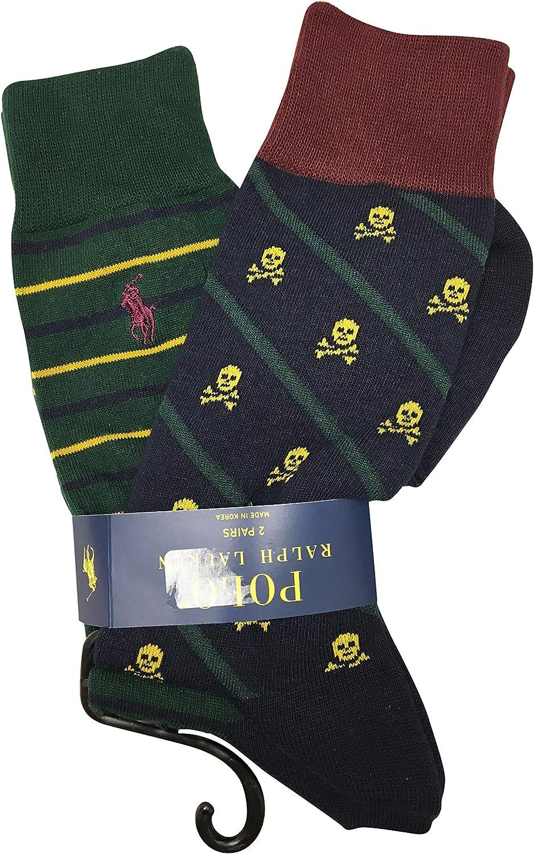 Polo Ralph Lauren Men's Socks Cotton/Polyester Blend 2 Pairs