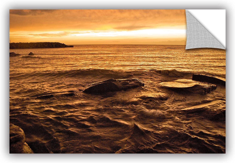 ArtWall Dan Wilson's Lake Erie Sunset III Art Appeelz Removable Graphic Wall Art, 12 by 18-Inch