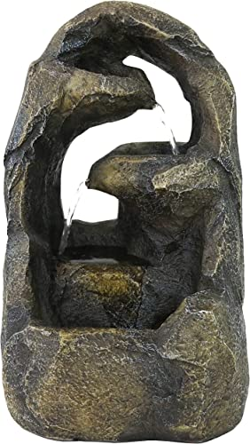discount Sunnydaze Cavernous Rock Tiers Indoor Tabletop Fountain - Mini Water Feature online sale - Interior Decor wholesale for Desk, Bedroom, Office, Den, Home and Living Room - 12-Inch sale