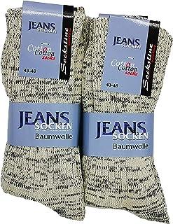 Schenk, Calcetines vaqueros 100 % algodón, 8 pares de calcetines vaqueros transpirables para hombre y mujer