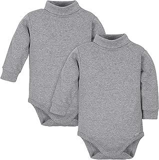 Baby Boys' 2-Pack Long Sleeve Turtleneck Onesies Bodysuits