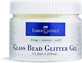 Faber Castell FBR770317 Glass Bead Glitter Gel Jar, 3.3 oz