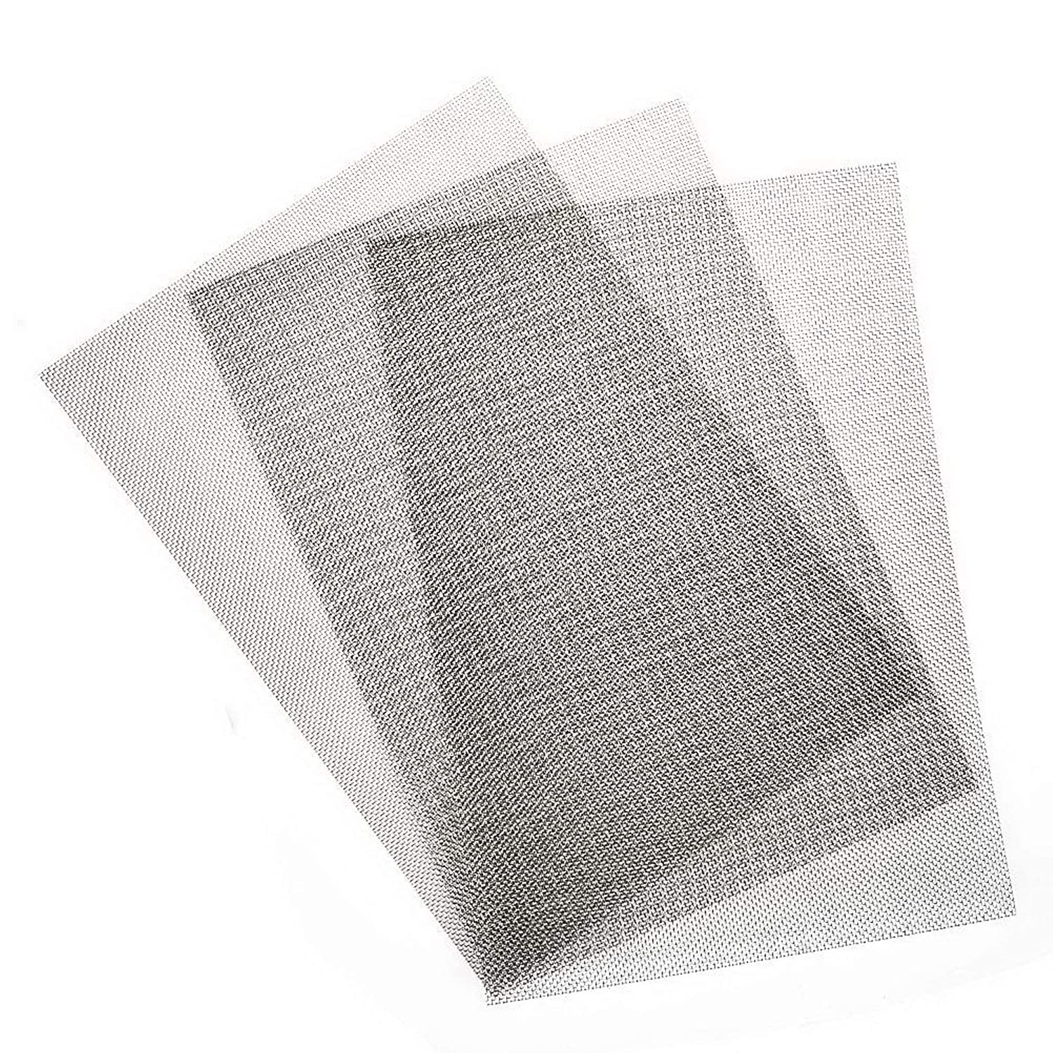 3Pack 304 Stainless Steel Woven Wire Mesh Max 53% OFF Metal Milwaukee Mall Screen 20 W