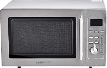 AmazonBasics – Microondas digital de mesa con grill, 25l, 900W, acero inoxidable