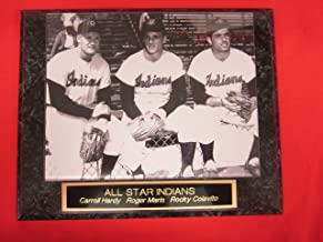 Rare Roger Maris Rookie Year Engraved Collector Plaque w/8x10 Photo with Rocky Colavito