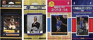 NBA 萨克拉门托国王队 4 个不同许可集换卡队套装,棕色,均码