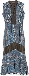 Just Cavalli womens Just Cavalli Womens Cracking Beauty Print Dress Casual Dress