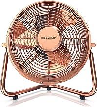 Brandson 5641364114641 Ventilateur de table style rétro Cuivre