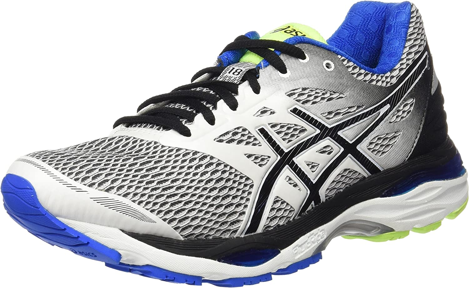 (6.5 UK, Multicolor (White black electric blueee))  Asics Men's Running shoes Multicolor