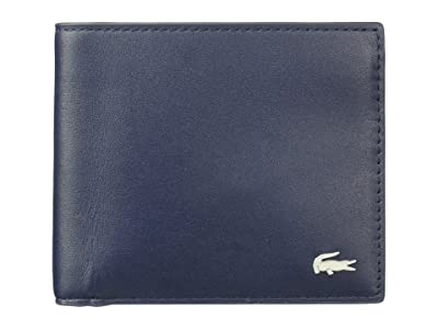 Lacoste Large Billfold and Coin Wallet (Peacoat) Wallet Handbags