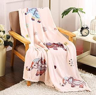 Décor&More Summertime Whimsy Plush Fleece Throw Blanket (50