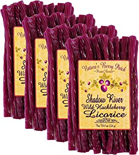 Shadow River Wild Huckleberry Gourmet Licorice Candy 8 oz - Pack of 4