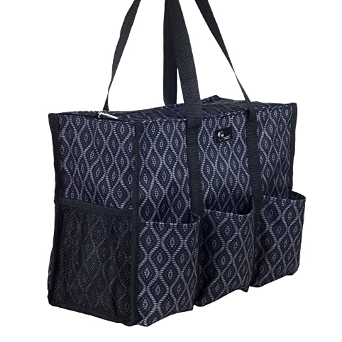 b9b821272 Pursetti Zip-Top Organizing Utility Tote Bag with Multiple Exterior &  Interior Pockets for Working