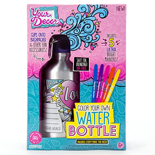 Your Decor By Horizon Group USA Color Own Water Bottle Kit Multi Colored