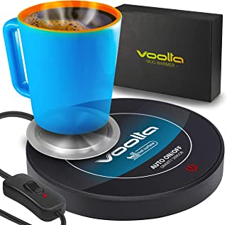 VOOLTA Smart Coffee Cup Warmer - Auto-Gravity Activated Coffee, Tea & Milk Cup Warmer for Desk - Concave Aluminum Heater D...