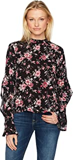 Freshman 1996 Women's Printed Ruffle Sleeve Top