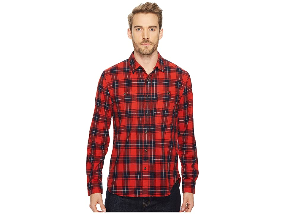 Lucky Brand Mason Workwear Shirt (Red Multi) Men