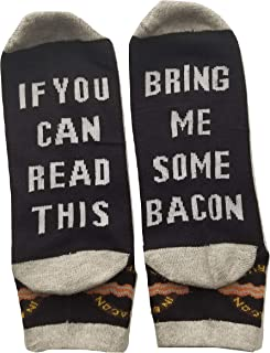 Bring Me Some Bacon Unisex Dress Socks For Bacon Lovers, Breakfast, Gag gift, novelty present for Men Women with Sewn in Letter and Logo(500+ sold)