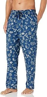Nautica mens Nautica Men's Soft Woven 100% Cotton Elastic Waistband Sleep Pajama Pant Pajama Bottom